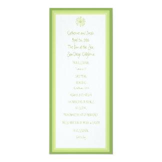 Programa del boda de la margarita de la primavera invitación 10,1 x 23,5 cm