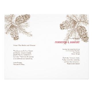 Programa del boda de la naturaleza del cono del tarjetones