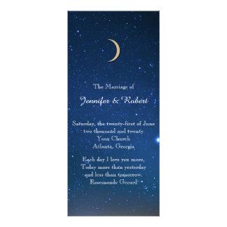 Programa del boda de la noche estrellada diseño de tarjeta publicitaria