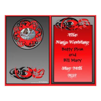 Programa del boda de Ninja (BI-Doblez) Flyer Personalizado