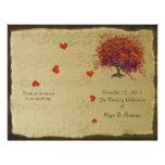 Programa del boda del árbol del naranja y de la ho tarjeta publicitaria