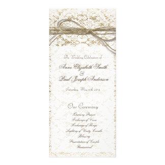 Programa del boda del arco del cordón y de la guit diseños de tarjetas publicitarias