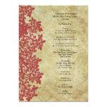 Programa del boda del cordón de la reina Ana rojo Anuncios Personalizados
