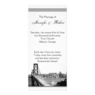 Programa del boda del destino de San Francisco Lona Personalizada