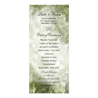 Programa del boda del Hydrangea de Annabelle Lona Personalizada