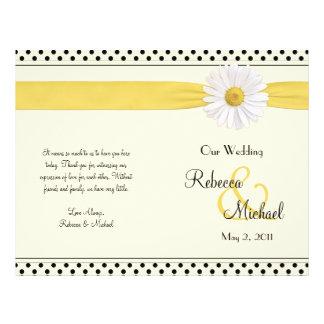 Programa del boda del lunar de la margarita de Sha Tarjetas Publicitarias