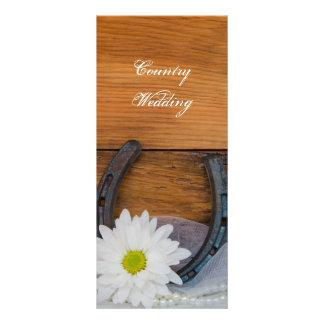 Programa del boda del país de la margarita blanca  plantilla de lona