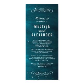 Programa del boda del Stargazer Invitación 10,1 X 23,5 Cm