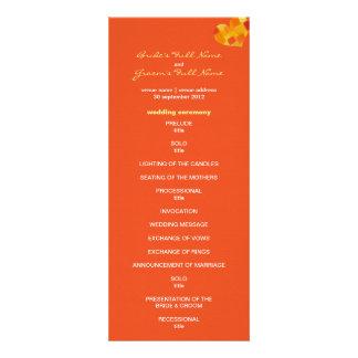 Programa del boda del tango del verano