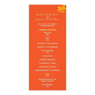 """Programa del boda del tango del verano invitación 4"""" x 9.25"""""""