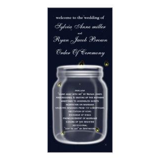 programa del boda del tarro de albañil de las diseños de tarjetas publicitarias