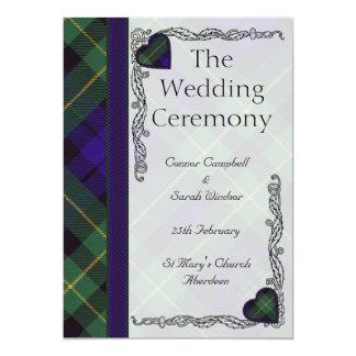 """Programa del boda del tartán - Campbell de Invitación 5"""" X 7"""""""