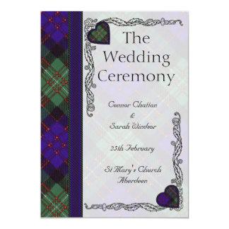 """Programa del boda del tartán - Macdonald del gorro Invitación 5"""" X 7"""""""