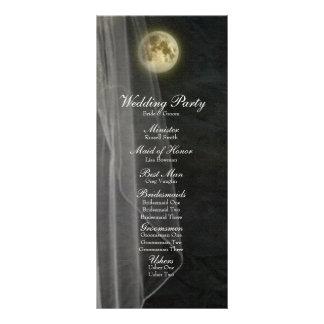 Programa del boda del velo de la noche del negro d lonas