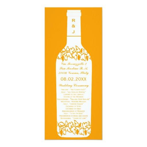 Programa del boda del viñedo invitación 10,1 x 23,5 cm