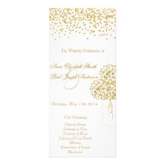 Programa del boda del vintage del tarro de albañil tarjeta publicitaria a todo color