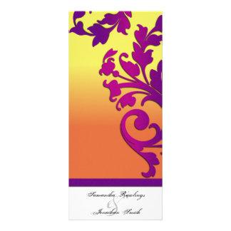 Programa del boda - destino tropical floral lona personalizada