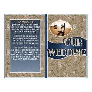 """Programa del boda (diseño plegable con la foto) folleto 8.5"""" x 11"""""""