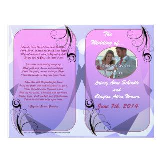"""Programa del boda (diseño plegable) folleto 8.5"""" x 11"""""""