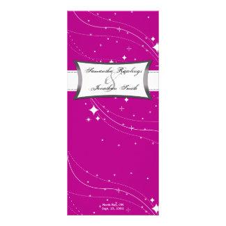 Programa del boda - estrellas rosadas y del blanco lonas