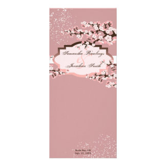 Programa del boda - flores de cerezo polvorientas  tarjetas publicitarias