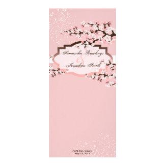 Programa del boda - flores de cerezo rosadas elega tarjetas publicitarias a todo color