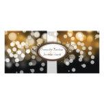 Programa del boda - luces brillantes de Brown y de Plantilla De Lona