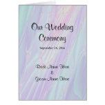 Programa del boda, modelo del estilo del Seashell Tarjeta De Felicitación