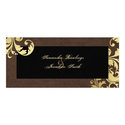 Programa del boda - reflejo de Brown y del oro flo Lona
