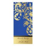 Programa del boda - reflejo del azul real y del or lonas