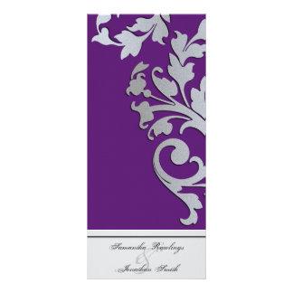 Programa del boda - remolino de plata púrpura de l plantillas de lonas