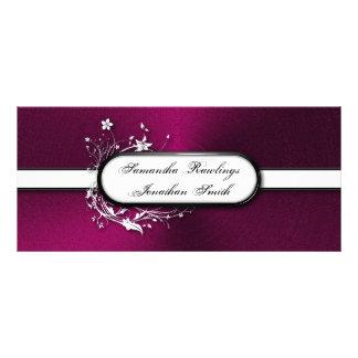 Programa del boda - remolinos florales metálicos i diseños de tarjetas publicitarias