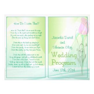 "Programa del boda (versión no-religiosa) folleto 8.5"" x 11"""