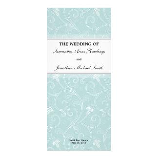 Programa del boda - Victorian blanco elegante flor Tarjetas Publicitarias Personalizadas