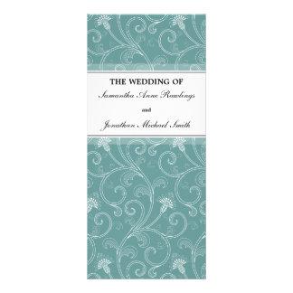 Programa del boda - Victorian elegante de la turqu Plantillas De Lonas