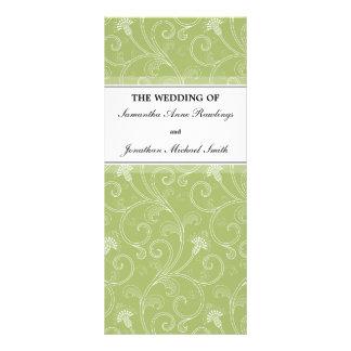 Programa del boda - Victorian elegante de la verde Tarjeta Publicitaria A Todo Color