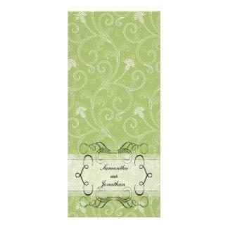 Programa del boda - Victorian elegante de la verde Lonas