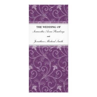Programa del boda - Victorian púrpura elegante flo Lona
