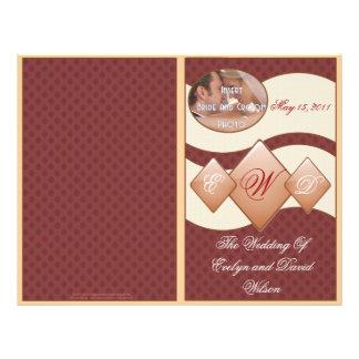 Programa del damasco y del boda del monograma de D Tarjetas Publicitarias