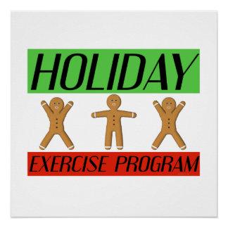 Programa del ejercicio del día de fiesta de la CAM Perfect Poster