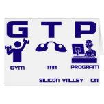 Programa del moreno del gimnasio tarjetas