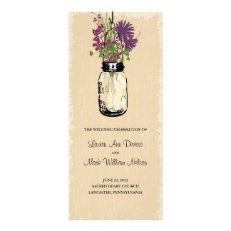 Programa del tarro y de los Wildflowers de albañil Tarjetas Publicitarias Personalizadas
