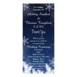 Programa elegante del boda del invierno del copo plantillas de lonas