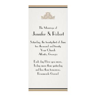 Programa elegante del boda del oro del art déco lonas
