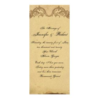 Programa elegante del boda del pavo real elegante tarjetas publicitarias a todo color