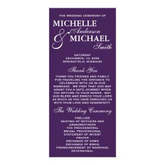 Programa elegante simple del boda lonas publicitarias