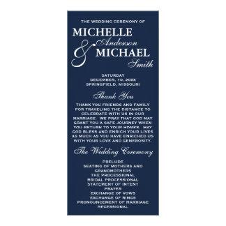 Programa elegante simple del boda lona publicitaria