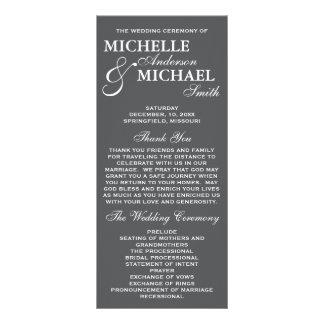 Programa elegante simple del boda tarjeta publicitaria a todo color