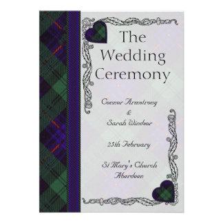 Programa escocés del boda del tartán - Armstrong Invitación