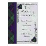 Programa escocés del boda del tartán - Armstrong Invitación 12,7 X 17,8 Cm